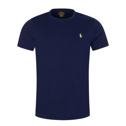 Navy Jersey Cotton T-Shirt