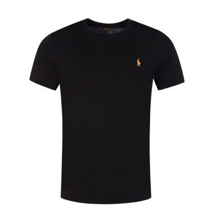 Black Jersey Cotton Slim Fit T-Shirt