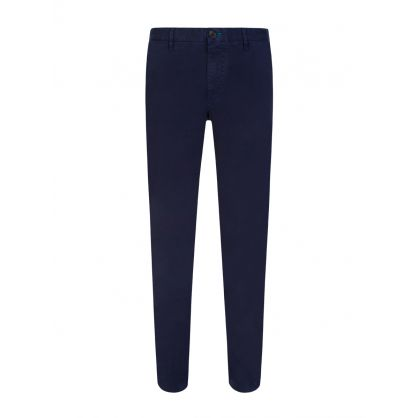 Navy Slim Fit Cotton Chinos