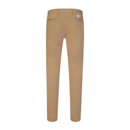 Brown Slim Cotton Chinos