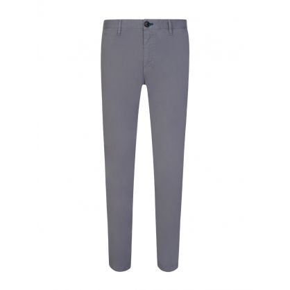 Grey Slim Cotton Chinos