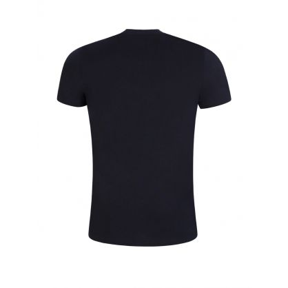 Navy Slim-Fit Warning Signs T-Shirt
