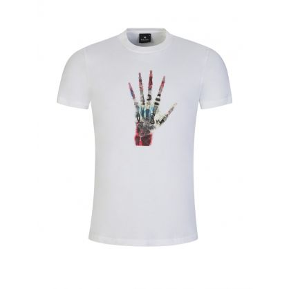 White Skeleton Hand T-Shirt