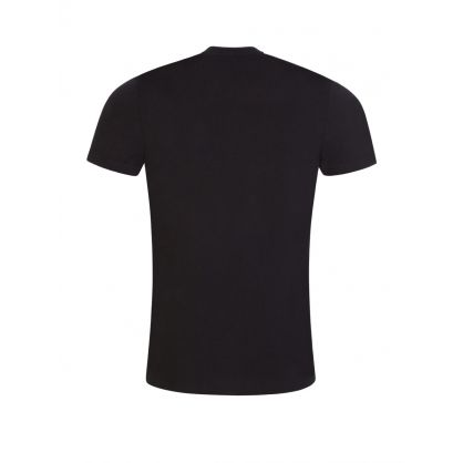 Black Organic Cotton '1970' Print T-Shirt