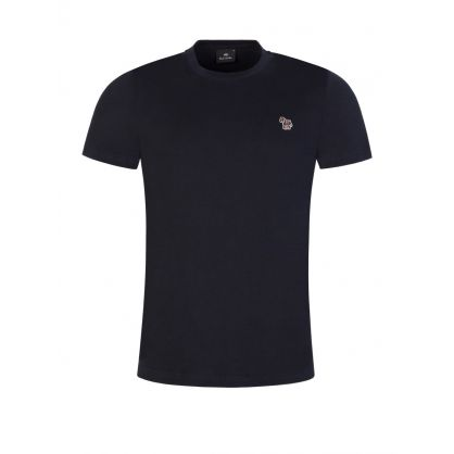 Navy Organic Cotton Zebra T-Shirt