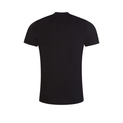 Black Slim-Fit Negatives Print T-Shirt