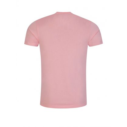 Pink Slim-Fit Zebra Badge T-Shirt