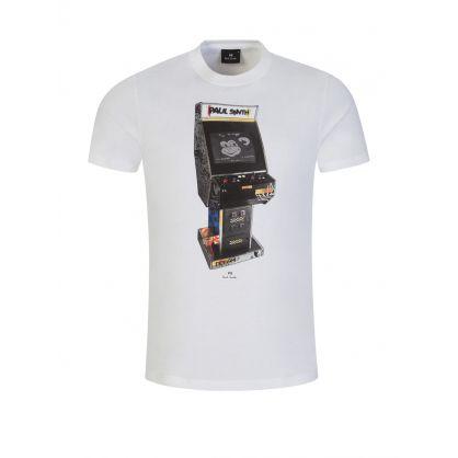 White 'Arcade' Print T-Shirt