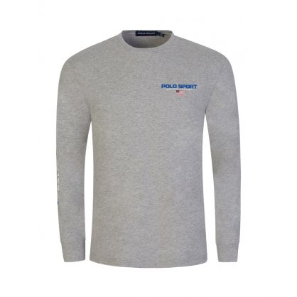 Grey Polo Sport Long-Sleeve T-Shirt