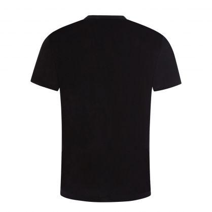 Jet Black Cotton Jersey T-Shirt
