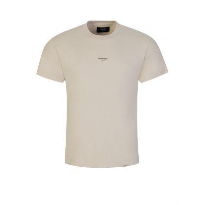 Beige Small Logo T-Shirt