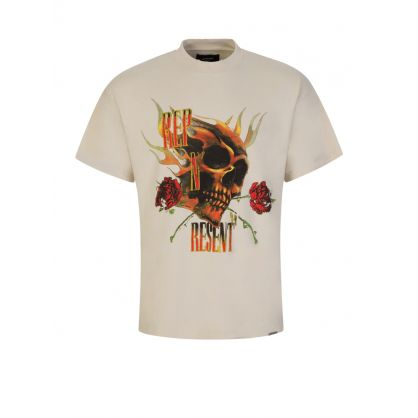 Beige Rep N Resent T-Shirt