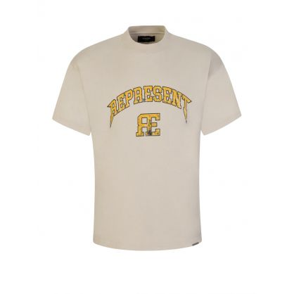 Beige Varsity Logo T-Shirt