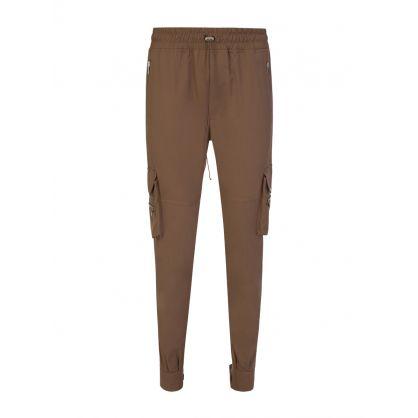 Brown Military Track Pants
