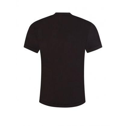 Black Classic Compass Patch Logo T-Shirt