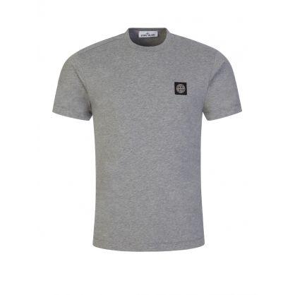 Melange Grey Logo Patch T-Shirt