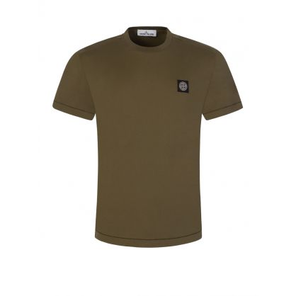 Olive Green Patch T-Shirt