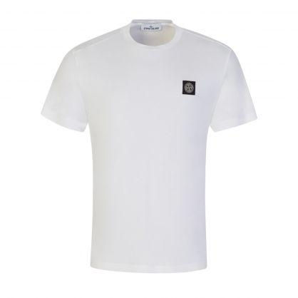 White Garment Dyed Cotton T-Shirt