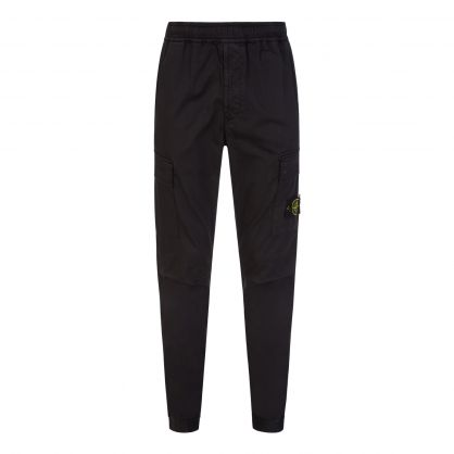 Black Satin Tapered Trousers