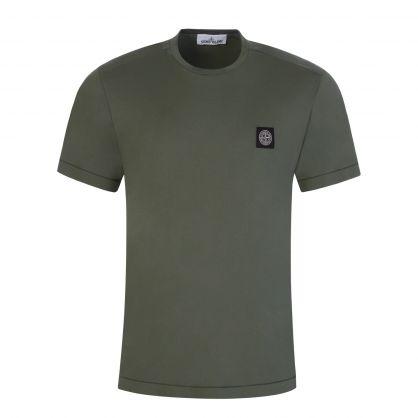 Green Garment Dyed Cotton T-Shirt