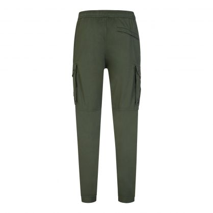 Green Satin Tapered Trousers