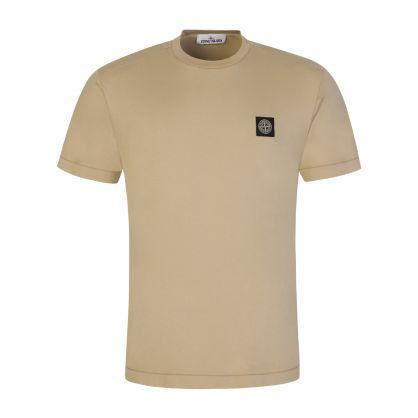 Ecru Garment Dyed Cotton T-Shirt