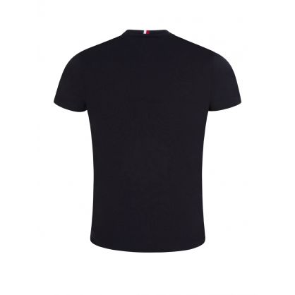 Navy Embroidered Flag Logo T-Shirt