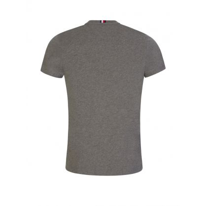 Grey Embroidered Flag Logo T-Shirt