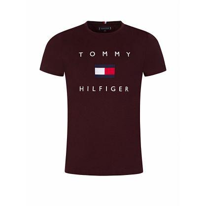 Burgundy Essential Flag Logo T-Shirt