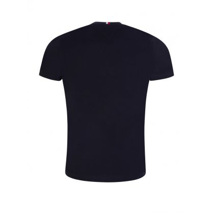 Navy Sleeve Tape T-Shirt