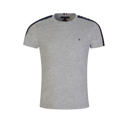 Grey Sleeve Tape T-Shirt