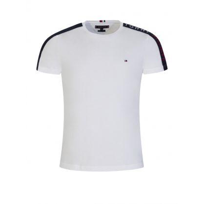 White Sleeve Tape T-Shirt