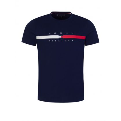 Navy Global Stripe T-Shirt