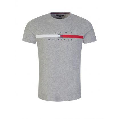 Grey Global Stripe T-Shirt