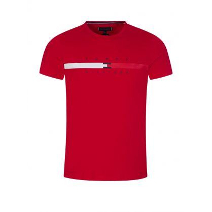 Red Global Stripe T-Shirt