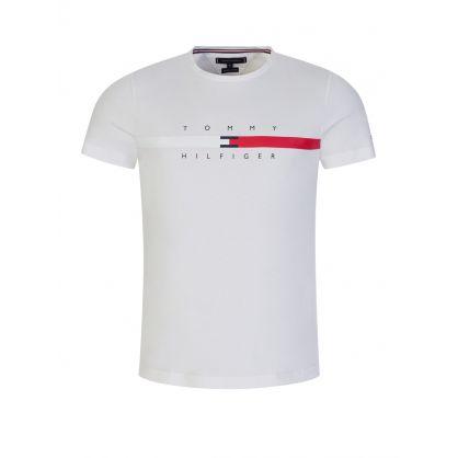 White Global Stripe T-Shirt