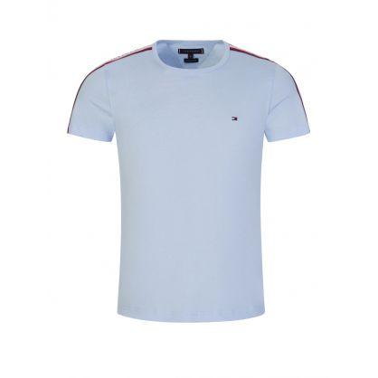 Blue Shoulder Tape T-Shirt