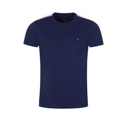 Navy Logo Tape T-Shirt