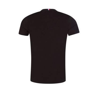 Black Organic Flag Logo T-Shirt
