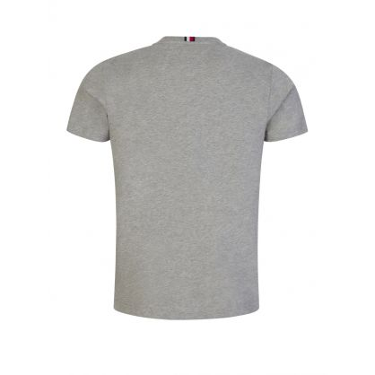 Grey Stacked Tommy Flag T-Shirt