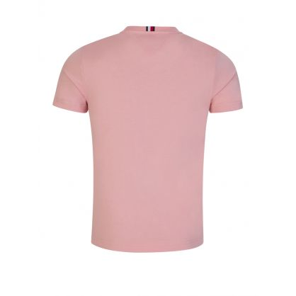 Pink Stacked Tommy Flag T-Shirt