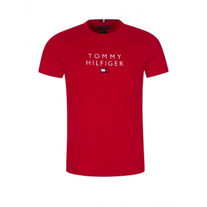 Red Stacked Tommy Flag T-Shirt