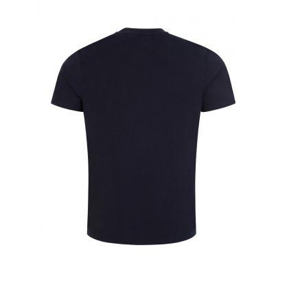 Navy Corp Texture Insert T-Shirt