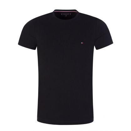 Black Stretch Slim T-Shirt