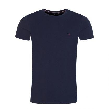 Navy Stretch Slim T-Shirt