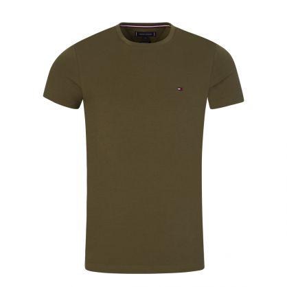 Green Stretch Slim T-Shirt