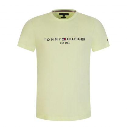 Lime Green Organic Cotton Chest Logo T-Shirt