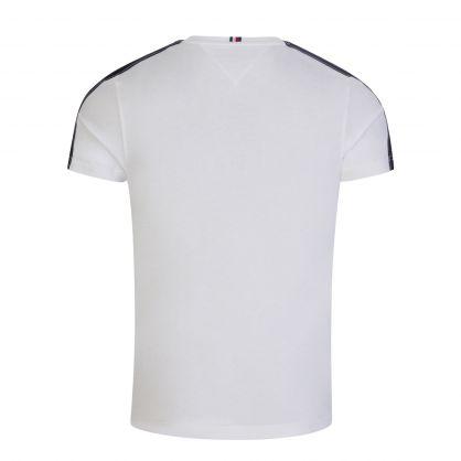 White Contrast Tape Logo T-Shirt