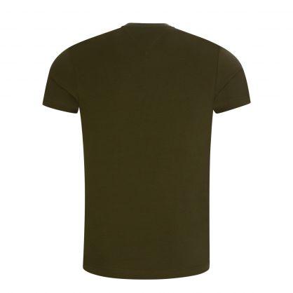 Green Stretch Slim Fit T-Shirt
