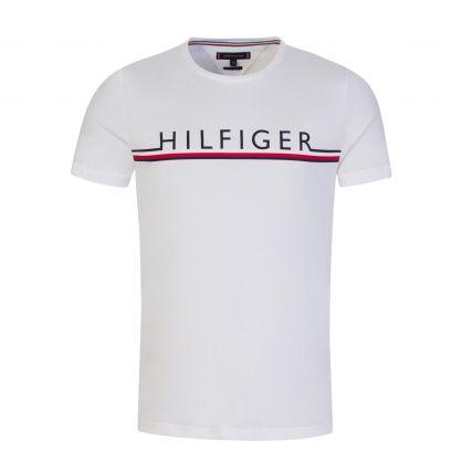 White Organic Cotton Signature Detail T-Shirt